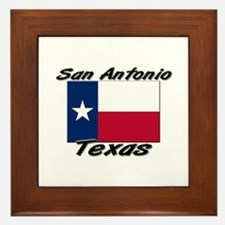 San Antonio Texas Framed Tile
