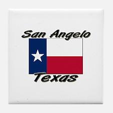 San Angelo Texas Tile Coaster