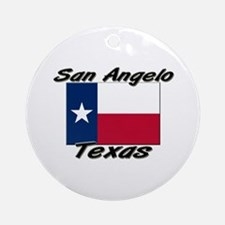 San Angelo Texas Ornament (Round)