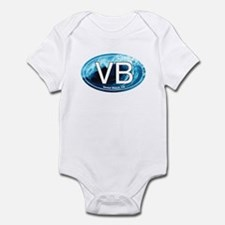 VB Venice Beach, CA Wave Oval Infant Bodysuit