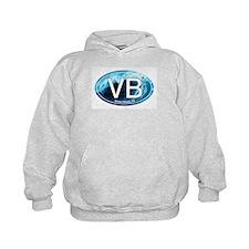 VB Venice Beach, CA Wave Oval Hoodie