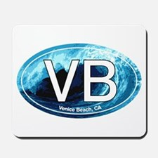 VB Venice Beach, CA Wave Oval Mousepad