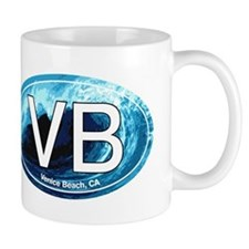VB Venice Beach, CA Wave Oval Mug
