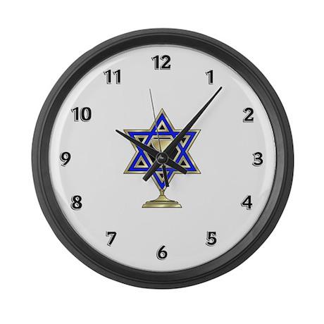 Jewish Star Large Wall Clock