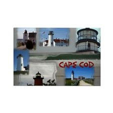 Lighthouse Collage - Cape Cod Rectangle Magnet (10