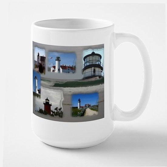 Lighthouse Collage Large Mug