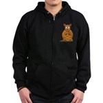 Cartoon Kangaroo Zip Hoodie (dark)