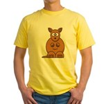 Cartoon Kangaroo Yellow T-Shirt