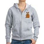 Cartoon Kangaroo Women's Zip Hoodie