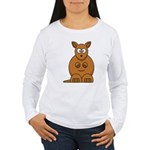 Cartoon Kangaroo Women's Long Sleeve T-Shirt