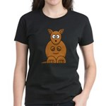 Cartoon Kangaroo Women's Dark T-Shirt