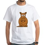 Cartoon Kangaroo White T-Shirt