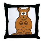 Cartoon Kangaroo Throw Pillow