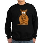 Cartoon Kangaroo Sweatshirt (dark)