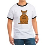 Cartoon Kangaroo Ringer T
