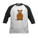 Cartoon Kangaroo Kids Baseball Jersey