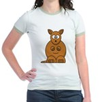 Cartoon Kangaroo Jr. Ringer T-Shirt