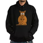 Cartoon Kangaroo Hoodie (dark)