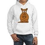 Cartoon Kangaroo Hooded Sweatshirt