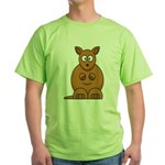 Cartoon Kangaroo Green T-Shirt