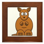 Cartoon Kangaroo Framed Tile