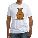Cartoon Kangaroo Fitted T-Shirt