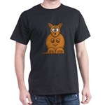 Cartoon Kangaroo Dark T-Shirt