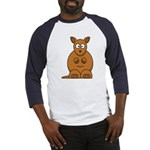 Cartoon Kangaroo Baseball Jersey