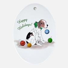 Beagle Holiday Oval Ornament