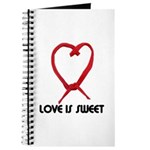 LOVE IS SWEET (LICORICE HEART) Journal