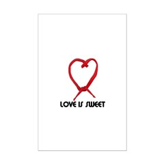 LOVE IS SWEET (LICORICE HEART) Posters