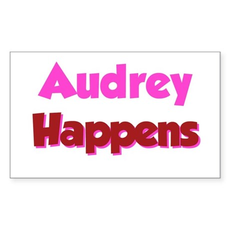 Audrey Happens Rectangle Sticker