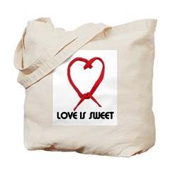 LOVE IS SWEET (LICORICE HEART) Tote Bag