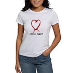 LOVE IS SWEET (LICORICE HEART) Women's T-Shirt