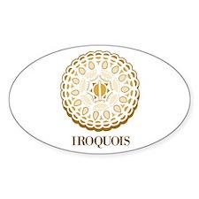 Iroquios 1 Oval Decal