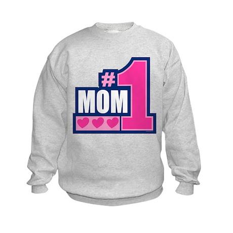 #1 Mom Kids Sweatshirt