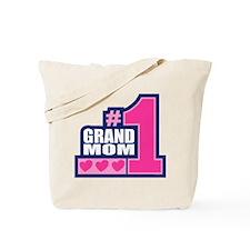#1 Grand Mom Tote Bag