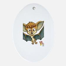 Baby Bat Oval Ornament