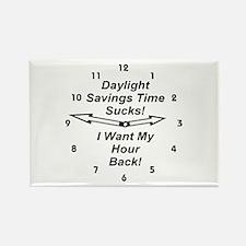 Daylight Savings Time Sucks! Rectangle Magnet