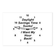 Daylight Savings Time Sucks! Postcards (Package of
