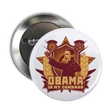 """Barack Is My Comrade! 2.25"""" Button"""