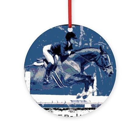 Hunter Jumper Horse Ornament (Round)