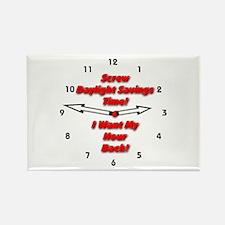 Screw Daylight Savings Time! Rectangle Magnet