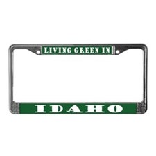 Living Green In Idaho License Plate Frame