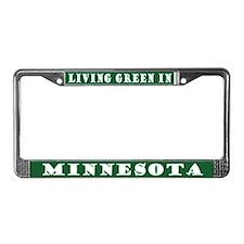 Living Green In Minnesota License Plate Frame