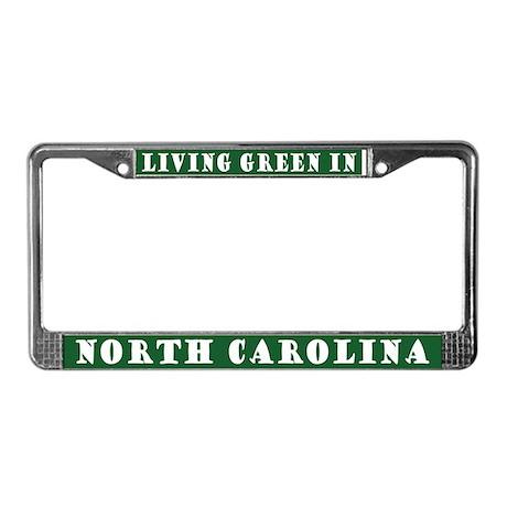 Living Green In North Carolina License Frame