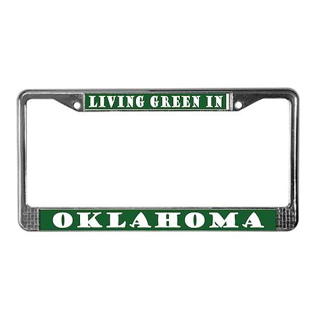 Living Green In Oklahoma License Plate Frame