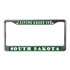 Living Green In South Dakota License Frame