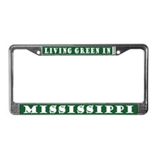 Living Green In Mississippi License Plate Frame