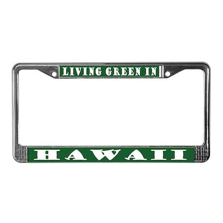 Green Hawaii License Plate Frame